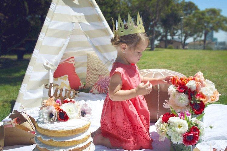 Blog timirim aniversario ecologico festa criança bolo real jardim decração