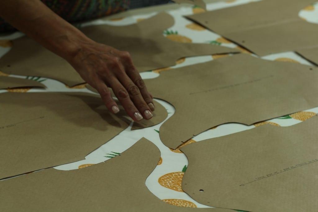 Corte das peças algodão orgânico confecção Timirim blogpost 8
