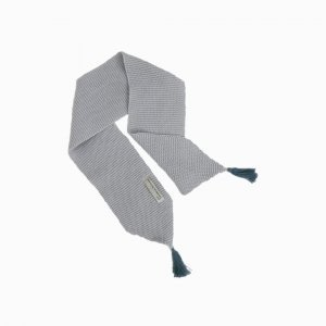 cachecol de trico de algodao organico cinza