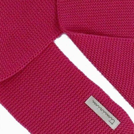 cachecol de trico de algodao organico rosa detalhe