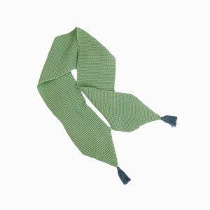 cachecol de trico de algodao organico verde