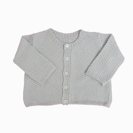 casaco de trico de algodao organico cinza