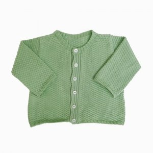 casaco de trico de algodao organico verde