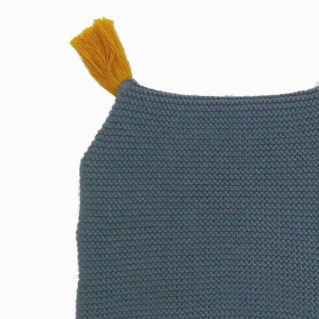 touca de trico de algodao organico azul