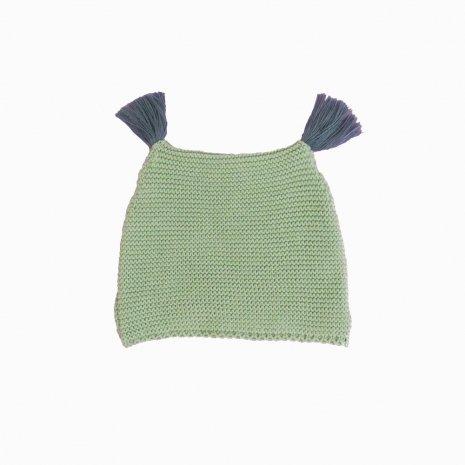 touca de trico de algodao organico verde