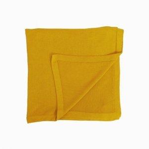 manta de trico de algodao organico mostarda