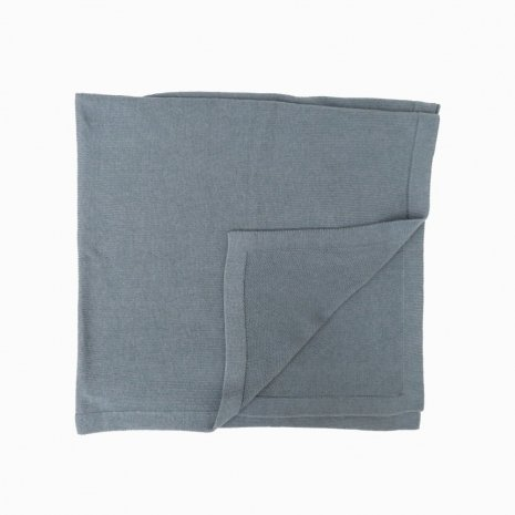 manta de trico de algodao organico azul