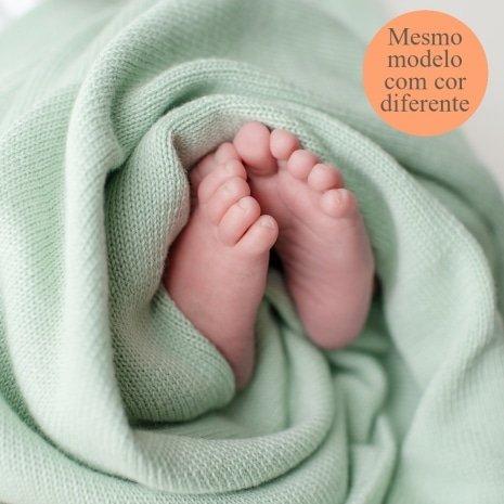 manta de tricô para bebês