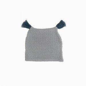 touca de trico de algodao organico cinza