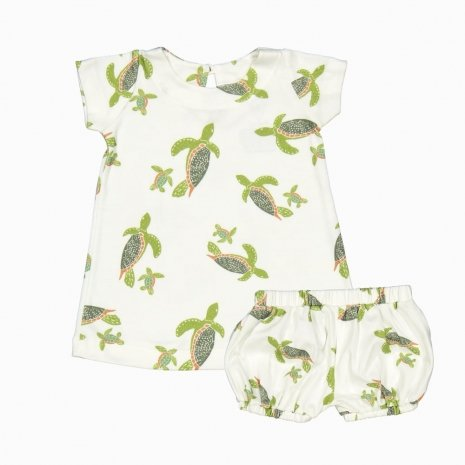 vestido e tf tartarugas