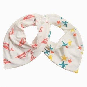 kit babadores bandana golfinhos e trio de estrelas