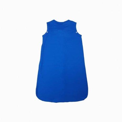 saco de dormir verao azul costas