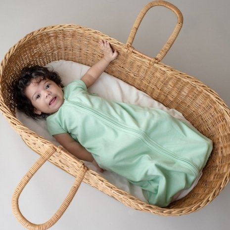 saco de dormir bebê verão verde claro