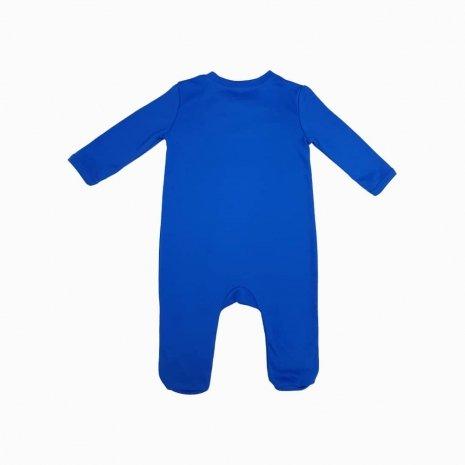 Macacao com ziper azul costas