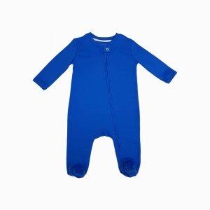 Macacao com ziper azul
