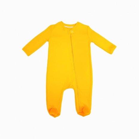 Macacao com ziper amarelo