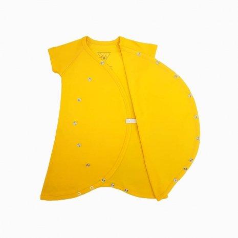 macaquinho kimono amarelo sol aberto