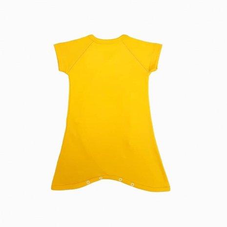 macaquinho kimono amarelo sol costas