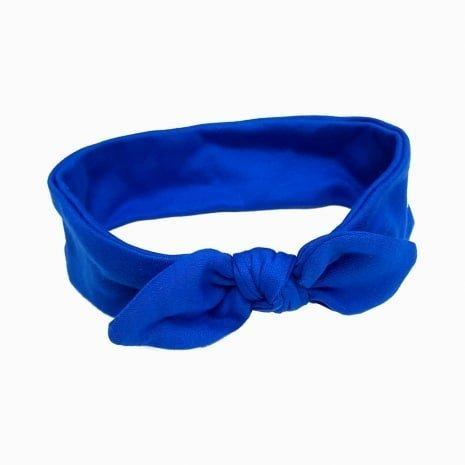 faixa de cabelo azul klein
