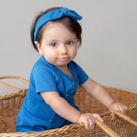 faixinha de cabelo bebê azul
