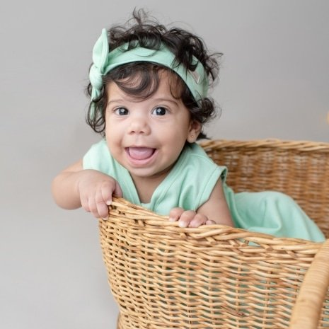faixinha de cabelo bebê verde