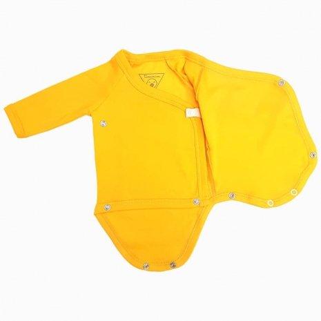 body prematuro kimono amarelo aberto
