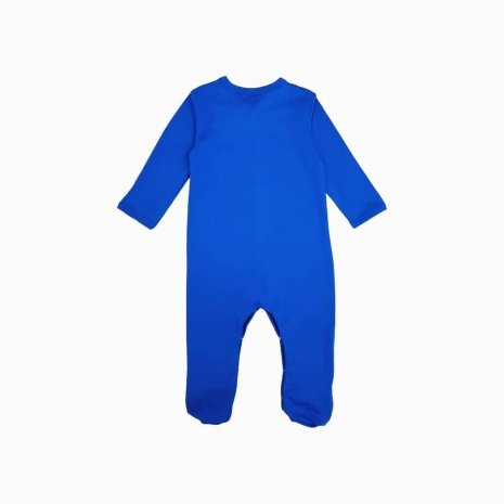 macacao pijama azul klein costas