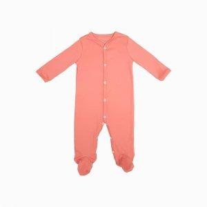 macacao pijama coral salmao