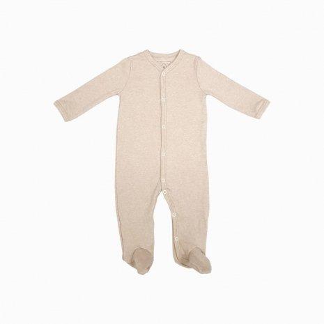 macacao pijama mescla bege