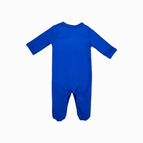 macacao bebe prematuro azul costas
