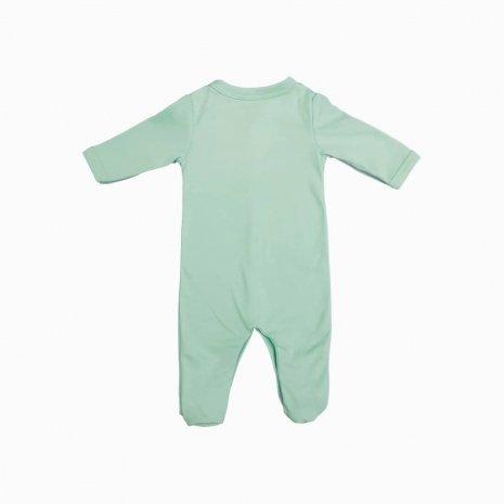 macacao bebe prematuro verde costas