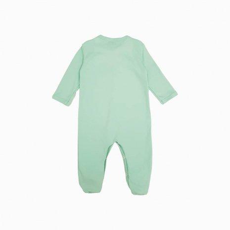 macacao pijama verde claro costas