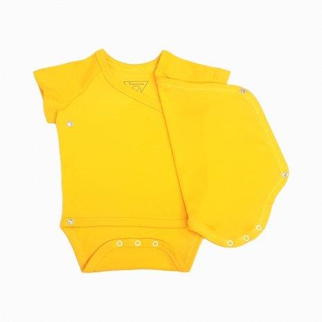 body kimono manga curta amarelo sol aberto