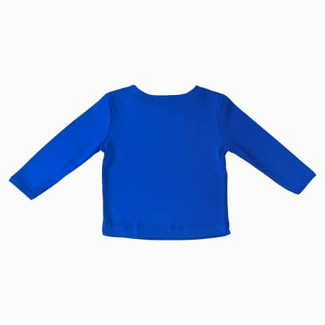 camiseta manga longa azul klein costas