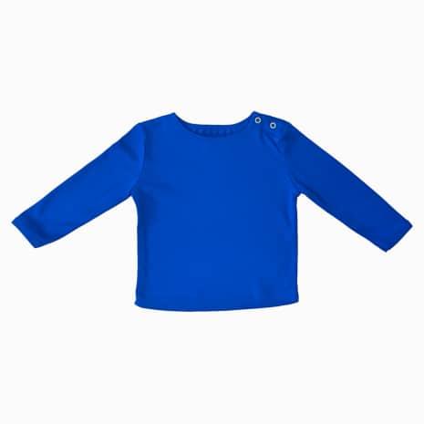 camiseta manga longa azul klein