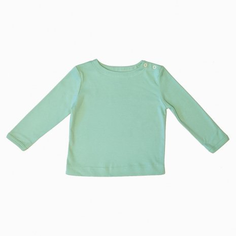 camiseta manga longa verde claro