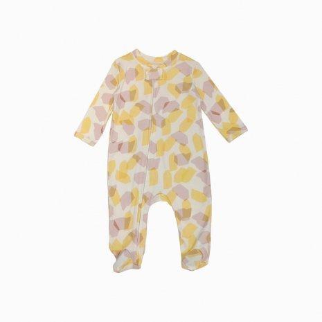 macacao pijama ziper doces fbfbfb