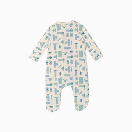 macacao pijama ziper geometrica costas fbfbfb