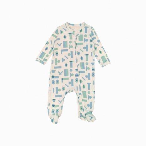 macacao pijama ziper geometrica fbfbfb